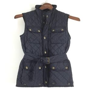 Ralph Lauren Girls Quilted Belted Vest (12-14)